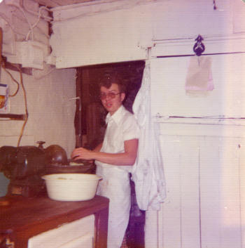 Bob chopping onions in the old days.